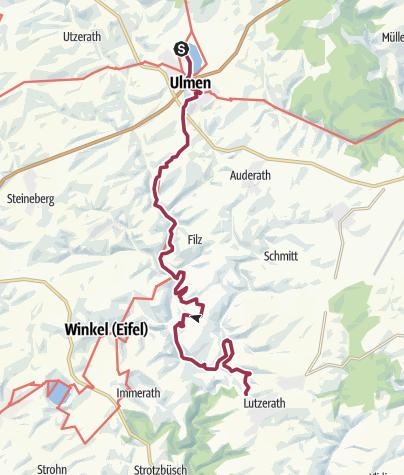 Karte / Vulkaneifel-Pfad: Maare-und-Thermen-Pfad: Etappe 1: Ulmen - Lutzerath