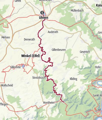 vulkaneifel karte Vulkaneifel Pfad: Maare und Thermen Pfad (2 Etappen): Ulmen