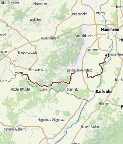 Karte / Pfälzer Jakobspilgerweg Südroute