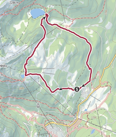Map / Tour from Pradalago to  Malghette Lake