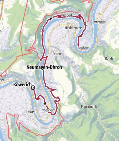 Karte / Römersteig