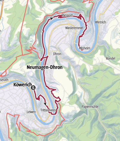 Karte / Römersteig entlang der Mosel