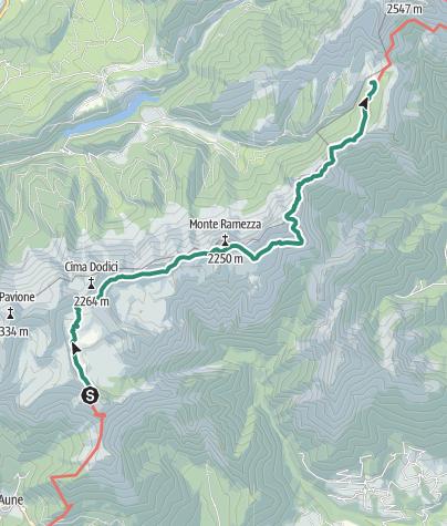 Cartina / Park2Trek Dolomites - tappa 2