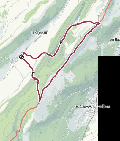 Map / Von La Sagne über Mont Racine und Tête de Ran