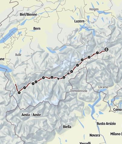 Karte / Rhein-Reuss-Rhôneweg