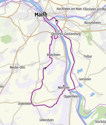 Karte / Hessisches Ried & Rheinhessen