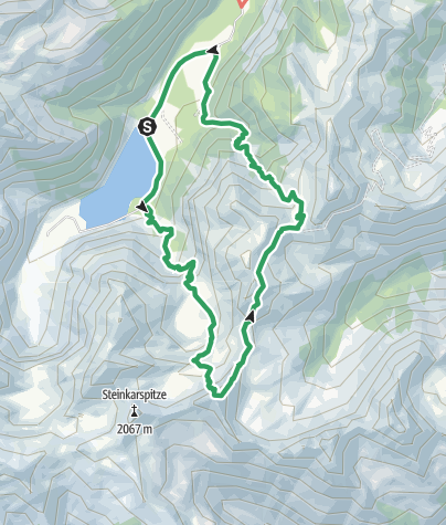 Karte / Klettersteig Lachenspitze vom Vilsalpsee aus