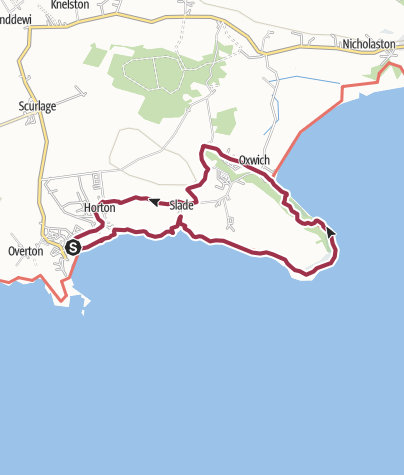 Map / Gower Coast Path and Inland Loop Walk, via Oxwich Bay