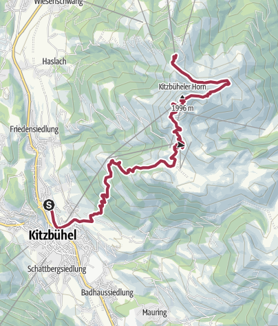 Map / Train to Kitzbühel and Walk to St. Johann