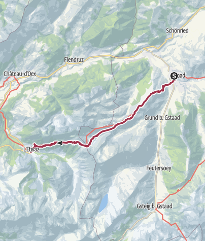Map / Walk to L'Etivaz
