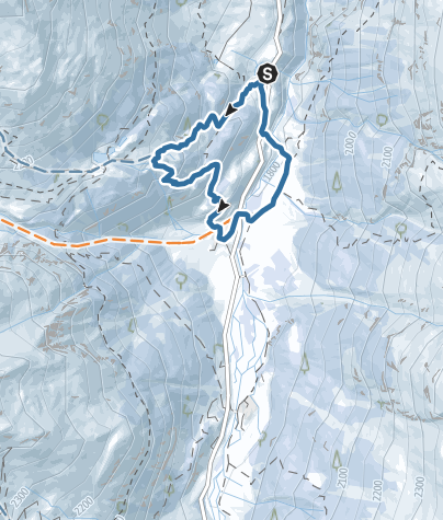 Map / Snowshoeing trail in Val d'Arolla