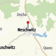 Térkép / Barockschloss & Schlosspark Neschwitz - barokowy hród a park w Njeswačidle