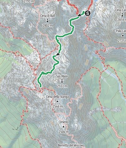 Cartina / Dolomiti Palaronda Hard Trek Sud - tappa 2
