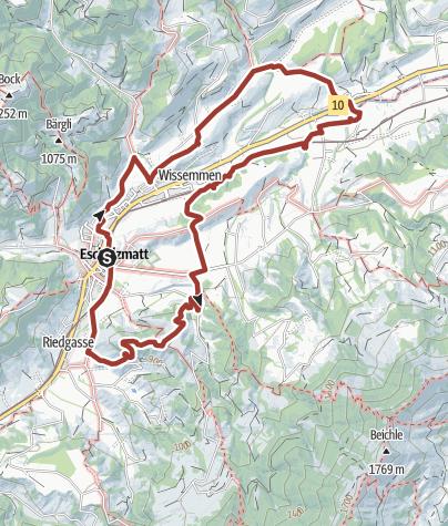 Karte / Geo-Pfad Escholzmatt - Eine geformte Landschaft