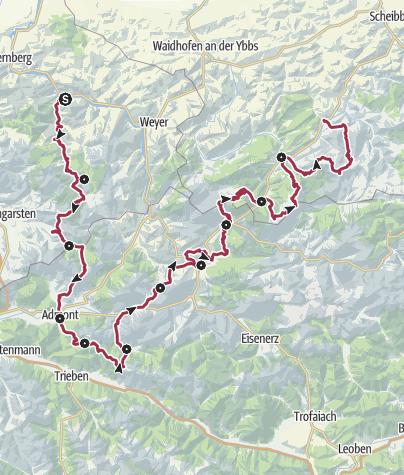Karte / Luchs Trail - Durch Österreichs wilde Mitte