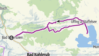 Map / Cycle tour – Lake Staffelsee route