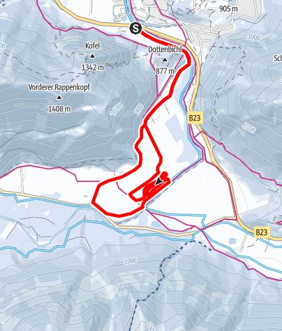 Karte / Langlaufloipe - Weidmoosrunde