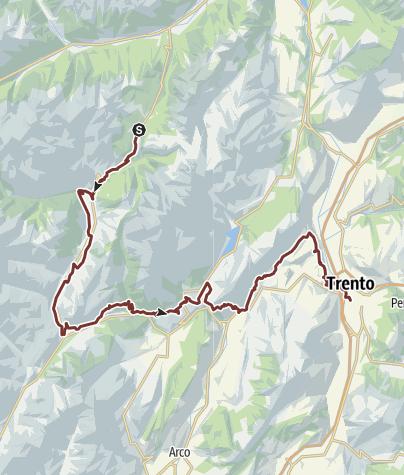 Cartina / Sentiero di San Vili - itinerario basso