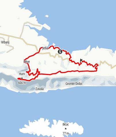 Map / Hvar- Zum aussichtsreichen Hum (604 m)
