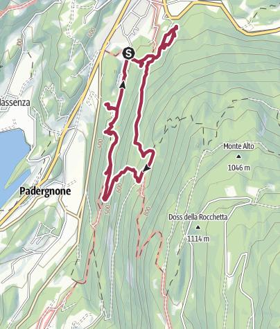 """Cartina / Vezzano - Il Sentiero geologico """"A. Stoppani"""""""