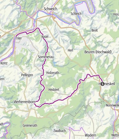 Map / Basislager Trier (Ruwer-Hochwald-Tour)