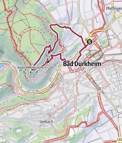 Karte / Wanderfit - Bad Dürkheim Panoramaweg des Drachenfels-Clubs