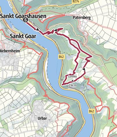 Map / Burg Katz und Loreley