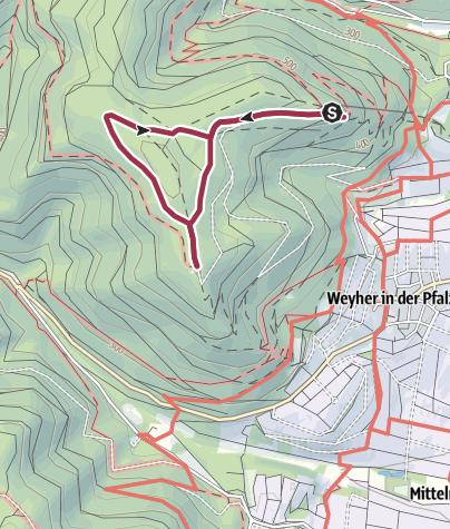 Karte / Rhodt - Rietburg-Rundweg