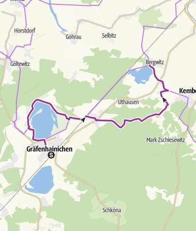 Karte / RAT RBL 2018 Tour 5 [Leipzig]-Gräfenhainichen -> Waldhaus am Bergwitzsee