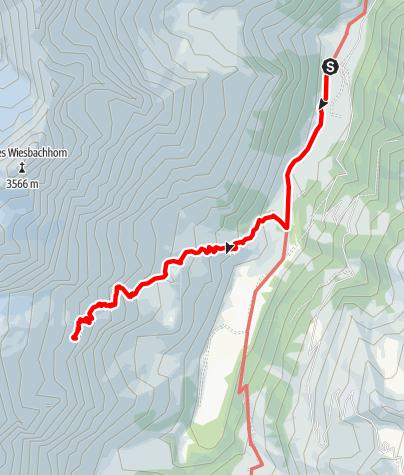 Map / Schwarzenberghütte - Aufstieg