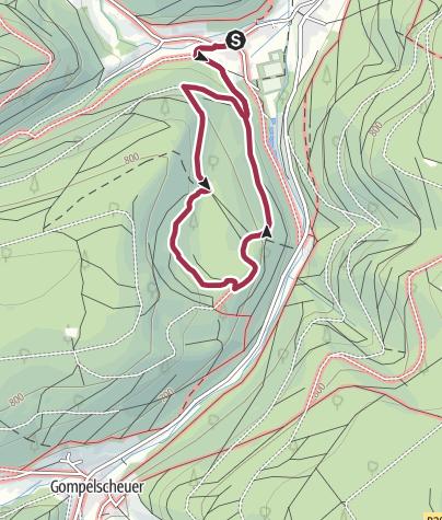 Karte / Urwalderlebnis Bärlochkar Enzklösterle