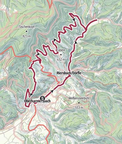 Karte / Reichstalpfad und 7-Täler-Weg in Oberharmersbach