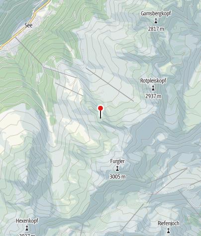 Karte / Zentralalpenweg 02 See - Ascherhütte - Furglerjoch - Serfaus