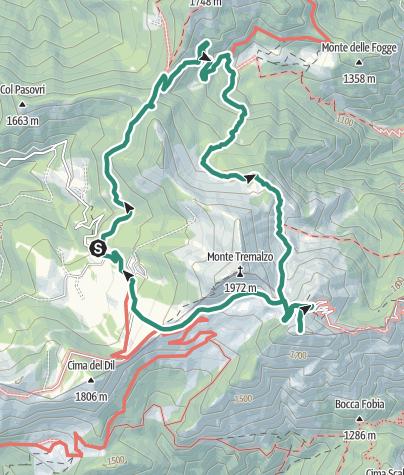 Cartina / Attorno al Monte Tremalzo