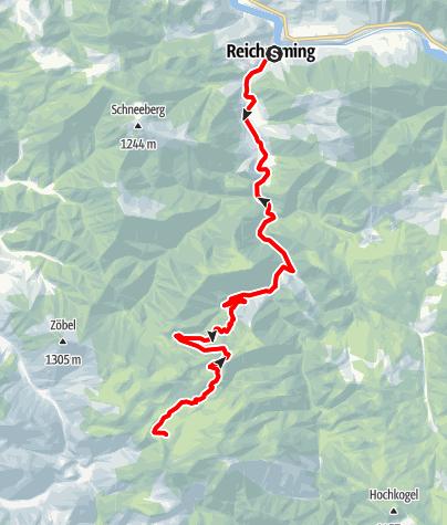 Karte / Ebenforstalm ab Reichraming  über Wilder Graben, Radtour