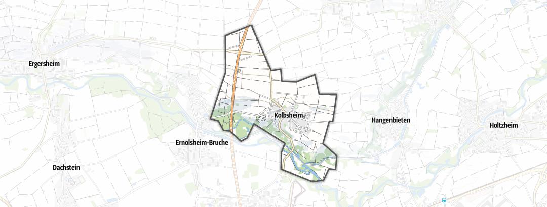 Mapa / Cyklistika v oblasti Kolbsheim