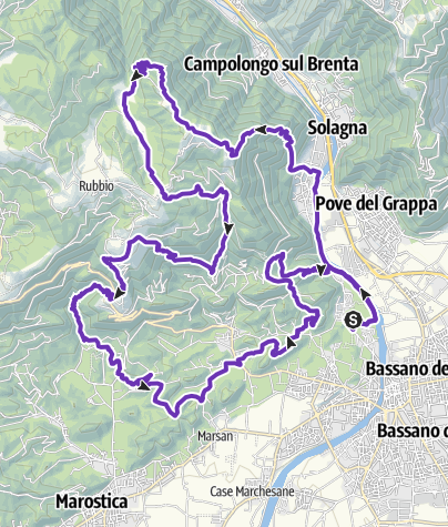 Cartina / CMP Trail Percorso Lungo 43 km