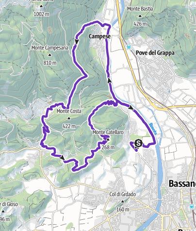 Cartina / CMP Trail Percorso Corto 18 km