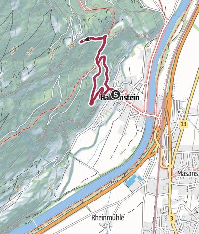 Karte / Grottenstein - mystische Burgruine