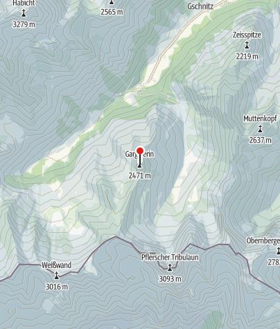Map / Gargglerin (2470 m) von Gschnitz