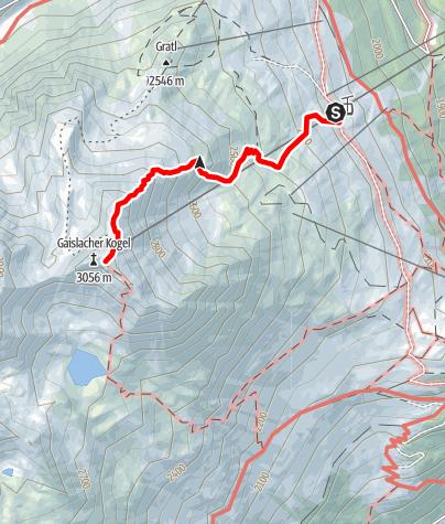 Karte / Seilbahnwandern zum Gaislachkogl