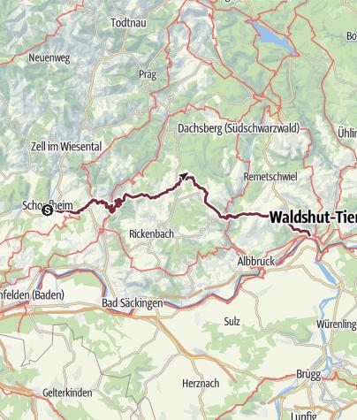 Karte / Hotzenwald Querweg