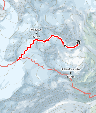 Map / Übergang Vernagthütte zum Brandenburger Haus