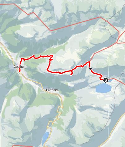 Karte / Silvrettarunde Montafon - Alpengasthof Zeinisjoch bis Gaschurn