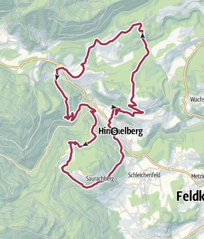 Map / Vier Gipfel, ein Wanderhimmel - Himmelberg