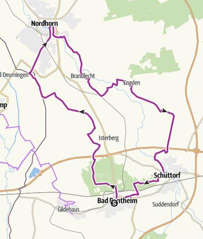 Karte / Mit dem E-Bike Nordhorn und Schüttorf entdecken