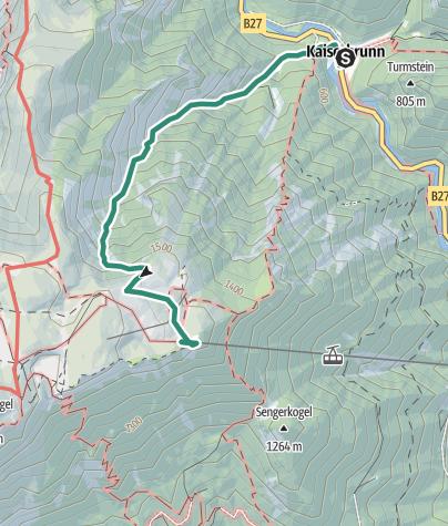 Karte / Großes Wolfstal Rax 4. August 2018