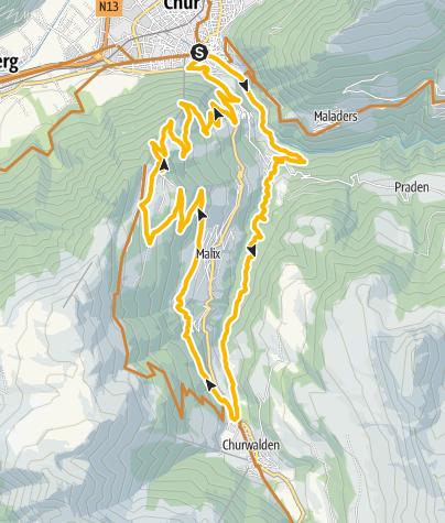 Karte / 255 Brambrüesch-Tour