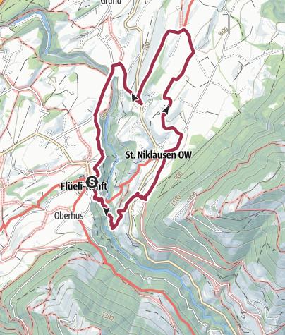 Carte / Rundwanderung Flüeli