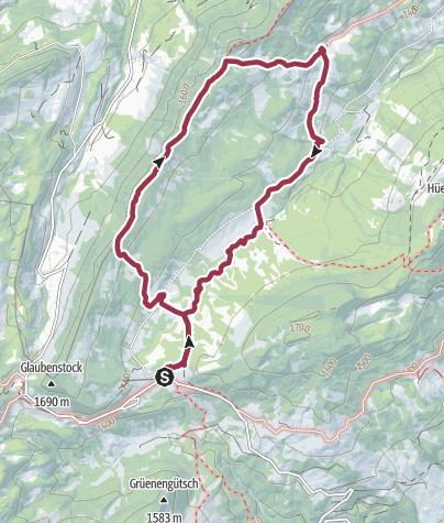 Carte / Par-delà le Schlierengrat